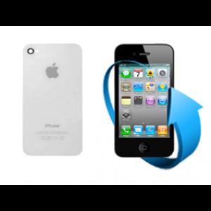 Remplacement vitre arrière Iphone 4S (Blanche)