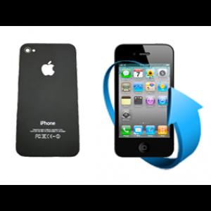 Remplacement vitre arrière Iphone 4S (Noire)
