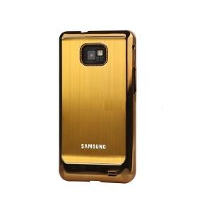 Coque de protection electro pour Galaxy S2 (or)