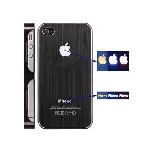 Coque de protection lumineuse Iphone 4 et 4S (noire)