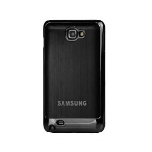 Coque de protection métalisée Galaxy Note (noire)