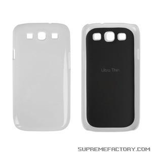 Coque de protection silicone pour Samsung Galaxy S3 (blanc)