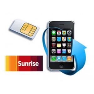 Déblocage iPhone bloqué Sunrise (Suisse)
