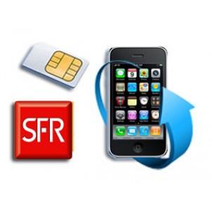 Déblocage iPhone bloqué SFR moins de 3 mois (FR)