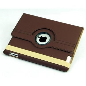 Housse protection 360° Ipad 2/3/4 (marron)