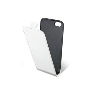 Housse cuir clapet iphone 5 (blanche)