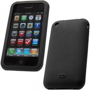 Housse silicone pour Iphone 3G/3GS (Noir)
