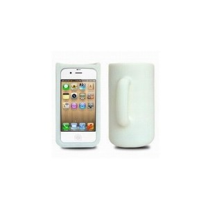 Coque Mug en silicone iphone 4 (blanche)
