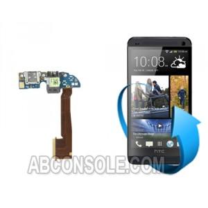 Remplacement connecteur de charge + micro HTC One M7