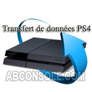 Transfert données PS4