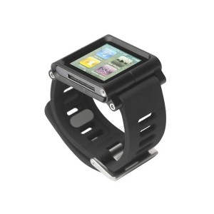 Bracelet montre aluminium ipod nano 6 noir