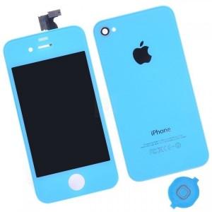Remplacement écran + vitre arrière Iphone 4 (bleu)