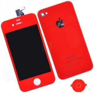 Remplacement écran + vitre arrière iPhone 4 (rouge)