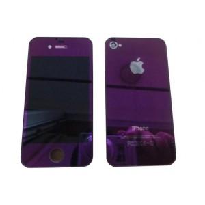 Remplacement écran + vitre arrière iPhone 4  (violet chromé)