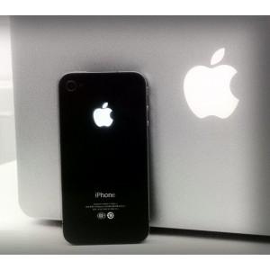 Remplacement vitre arrière lumineuse Iphone 4 (noir)