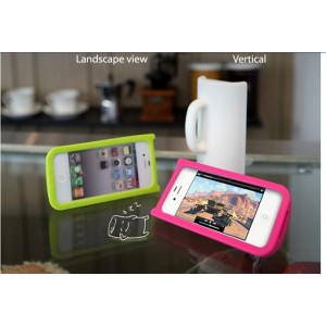 Coque Mug en silicone iphone 4 (verte)